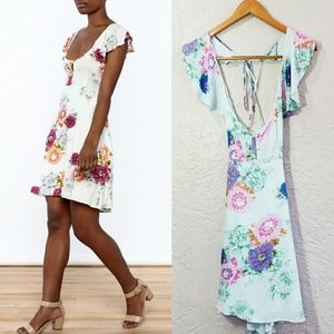 NWT Cotton Candy LA FLOWER FLUTTER DRESS